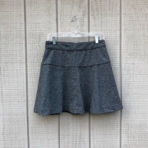 Banana Republic gray tweed flared skirt, sz 6P